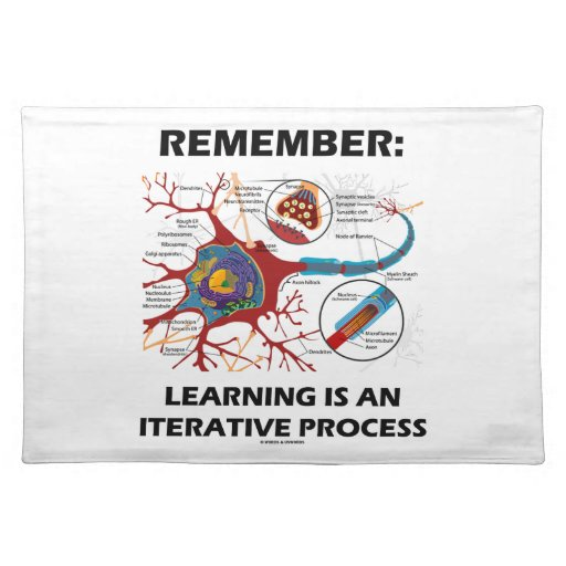 Remember: Learning Is An Iterative Process Synapse Placemats