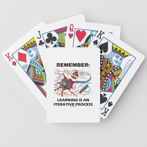 Remember: Learning Is An Iterative Process Synapse Bicycle Playing Cards