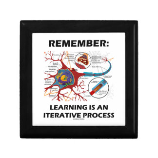 Remember: Learning Is An Iterative Process Synapse Small Square Gift Box
