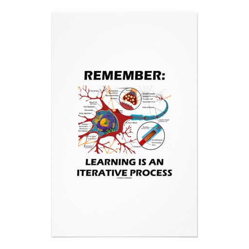Remember: Learning Is An Iterative Process Synapse Stationery Paper