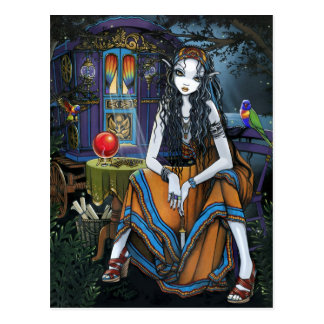 Remember Me Bohemian Gypsy Fortune Teller Postcard