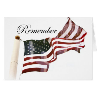 Remember  Memorial Day - Crosses Within Old Glory Card