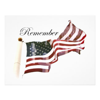 Remember  Memorial Day - Crosses Within Old Glory Flyer
