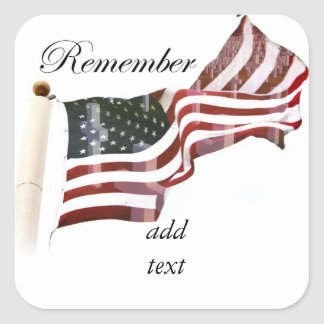 Remember  Memorial Day - Crosses Within Old Glory Sticker