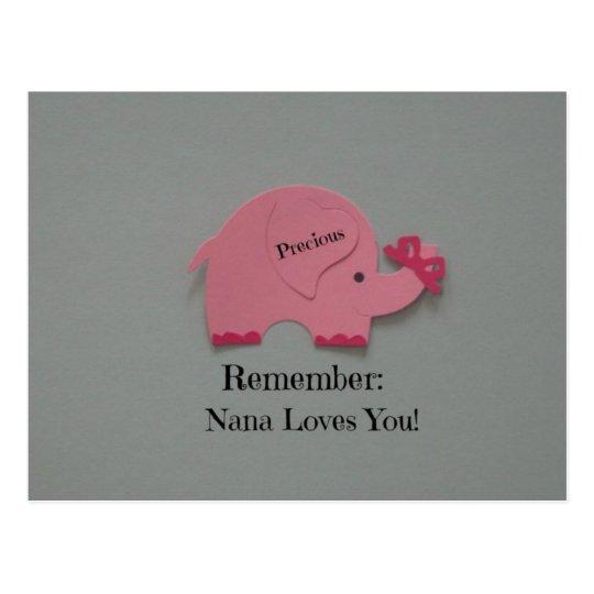 Remember: Nana Loves You! Postcard