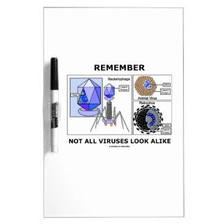 Remember Not All Viruses Look Alike Virology Dry Erase Whiteboards