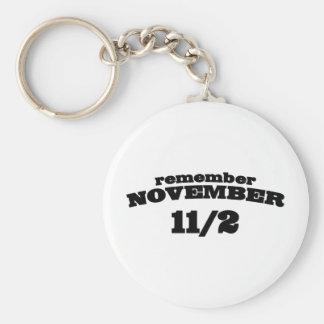 Remember November 11/2 Key Ring
