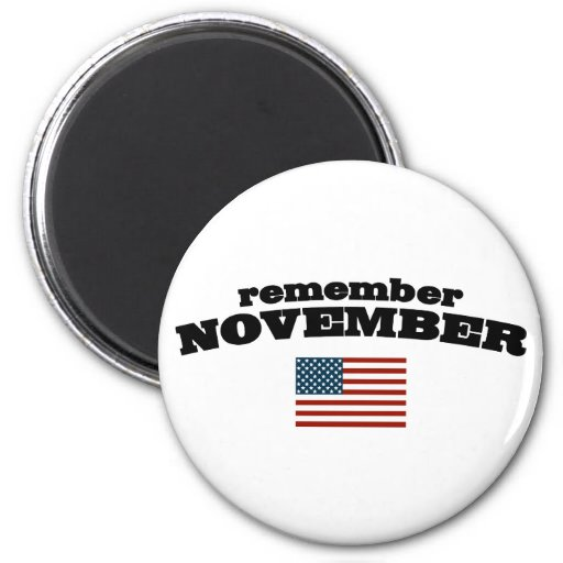Remember November America Fridge Magnets
