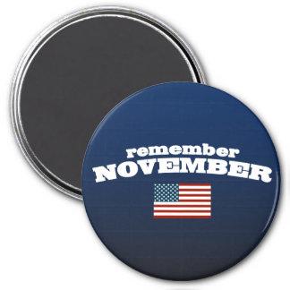 Remember November America Refrigerator Magnet