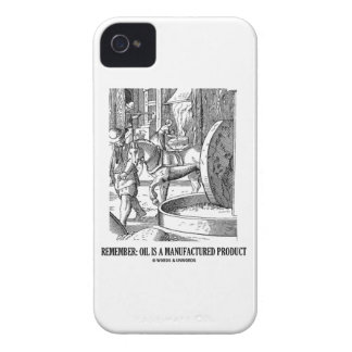 Remember: Oil Is A Manufactured Product Case-Mate iPhone 4 Case