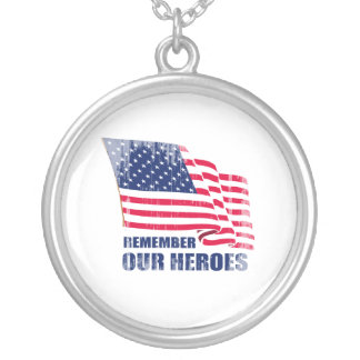 Remember our heroes Faded.png Necklace