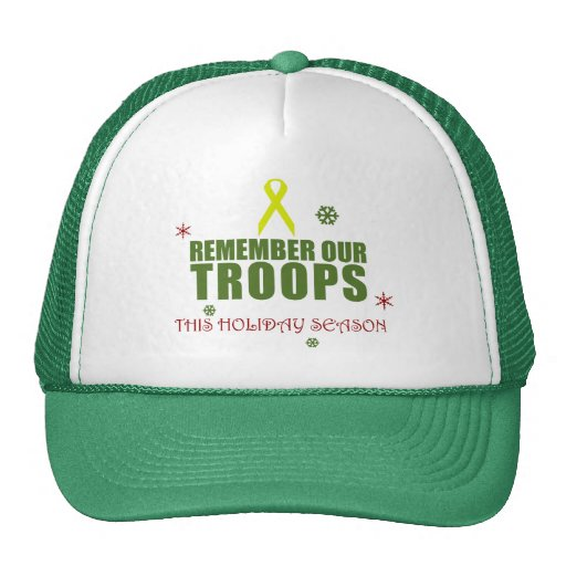 Remember Our Troops This Holiday Season Mesh Hats