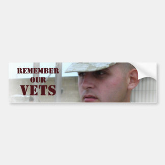 Remember Our Vets Bumper Sticker