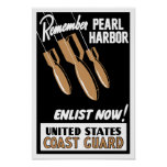 Remember Pearl Harbour Enlist Now -- Coast Guard Poster