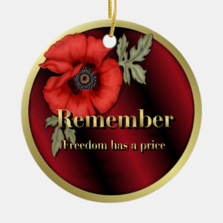 Remember Poppy Christmas Ornament