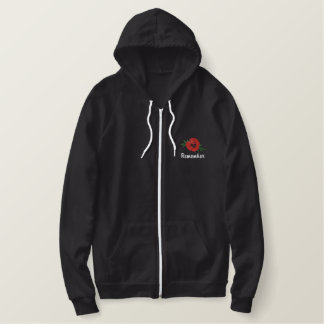 Remember Poppy Embroidered Hoodie
