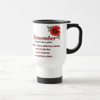Remember Poppy Stainless Steel Travel Mug