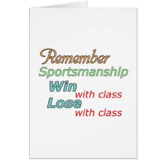 Remember Sportsmanship Greeting Card
