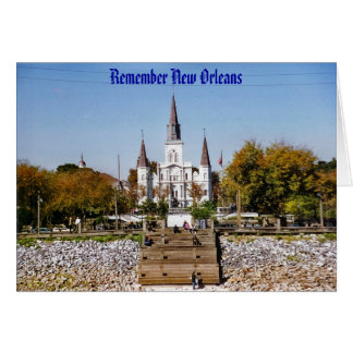 Remember St Louis Cathedral in New Orleans Card