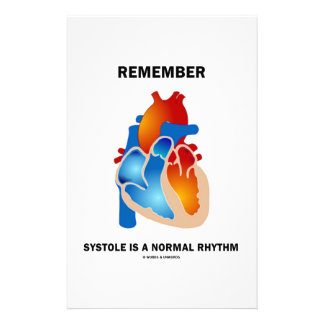 Remember Systole Is A Normal Rhythm Heart Stationery