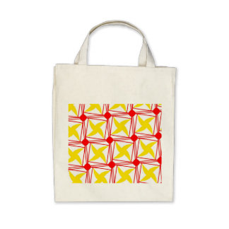 remember the 60s and 70s red pattern canvas bags