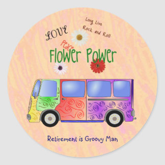 Remember the '60s Rock and Roll, Groovy Retirement Round Sticker