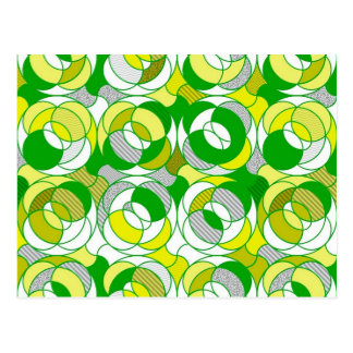 remember the 70s, green pattern postcard
