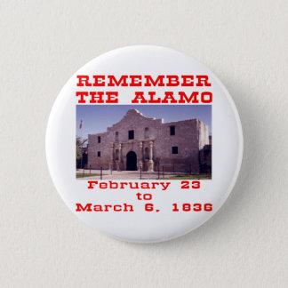 Remember The Alamo #001 6 Cm Round Badge