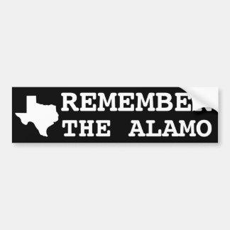 Remember the Alamo Car Bumper Sticker