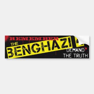 Remember the Benghazi 4 Bumper Sticker