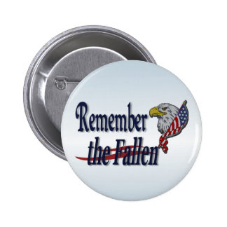 Remember the Fallen with Eagle and Flag Buttons