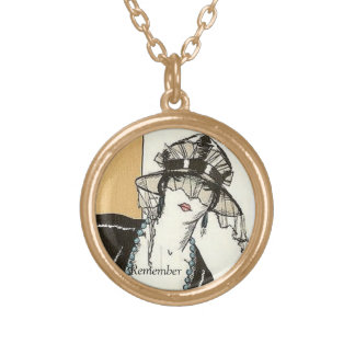 Remember the Good Old Days Round Pendant Necklace