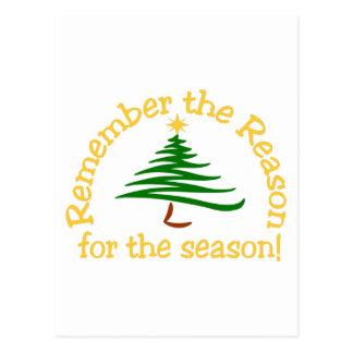 Remember The Reason Postcard
