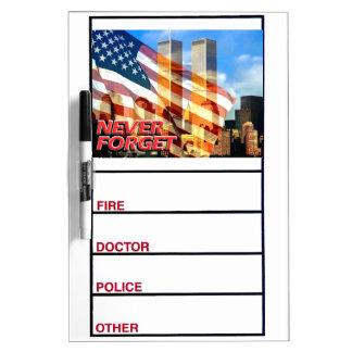 Remember The September 11, 2001 Terrorist Attacks Dry Erase Boards