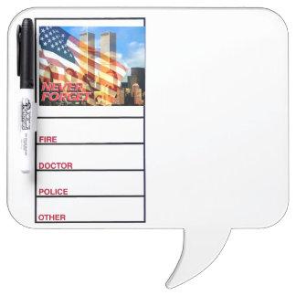 Remember The September 11, 2001 Terrorist Attacks Dry Erase Whiteboard