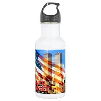 Remember The Terrorist Attacks on 9/11/01 532 Ml Water Bottle