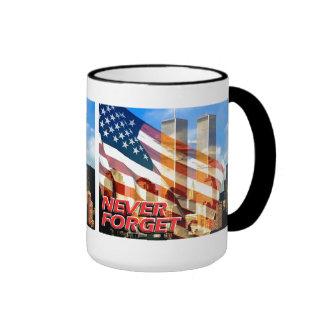 Remember The Terrorist Attacks on 9/11/01 Ringer Mug