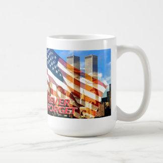 Remember The Terrorist Attacks on 9/11/01 Classic White Coffee Mug