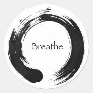 Remember to Breathe! Classic Round Sticker