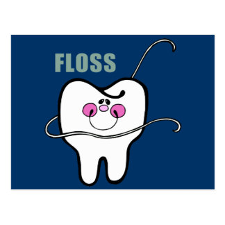 Remember to Floss! Postcard