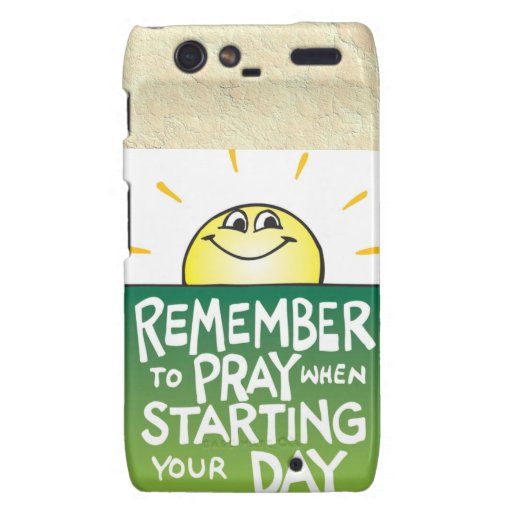 Remember to Pray Everyday Droid RAZR Case
