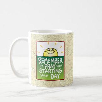 Remember to Pray Everyday Coffee Mugs