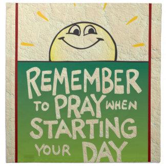 Remember to Pray Everyday Napkins