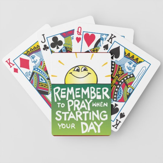 Remember to Pray Everyday Poker Deck