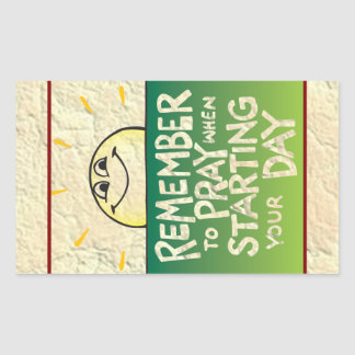 Remember to Pray Everyday Rectangle Stickers