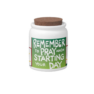 Remember to Pray Everyday Candy Jar