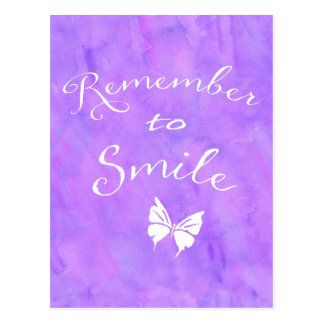 Remember To Smile Inspirational Quote Postcard