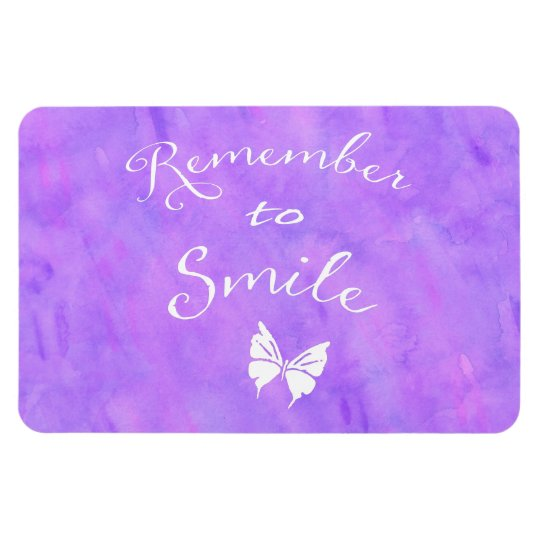 Remember To Smile Inspirational Quote Rectangular Photo Magnet