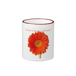 Remember to stop and smell the flowers mug