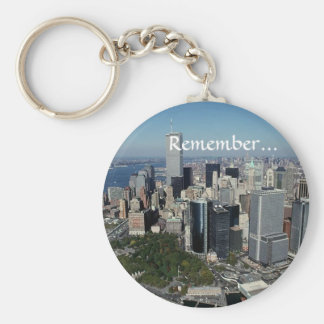 Remember ~ Twin Towers View~ WTC NYC Manhattan Key Ring